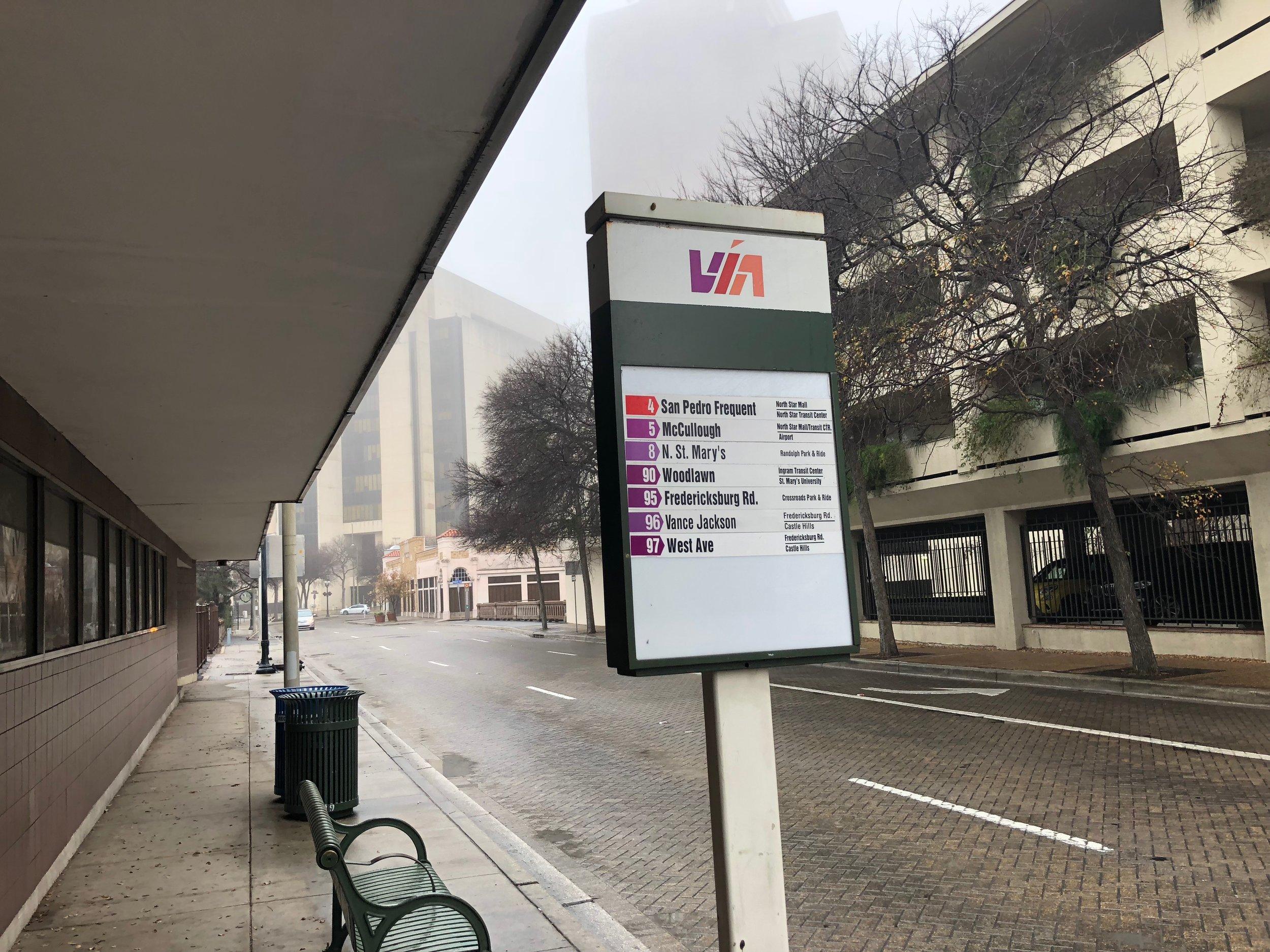 Sad bus stop