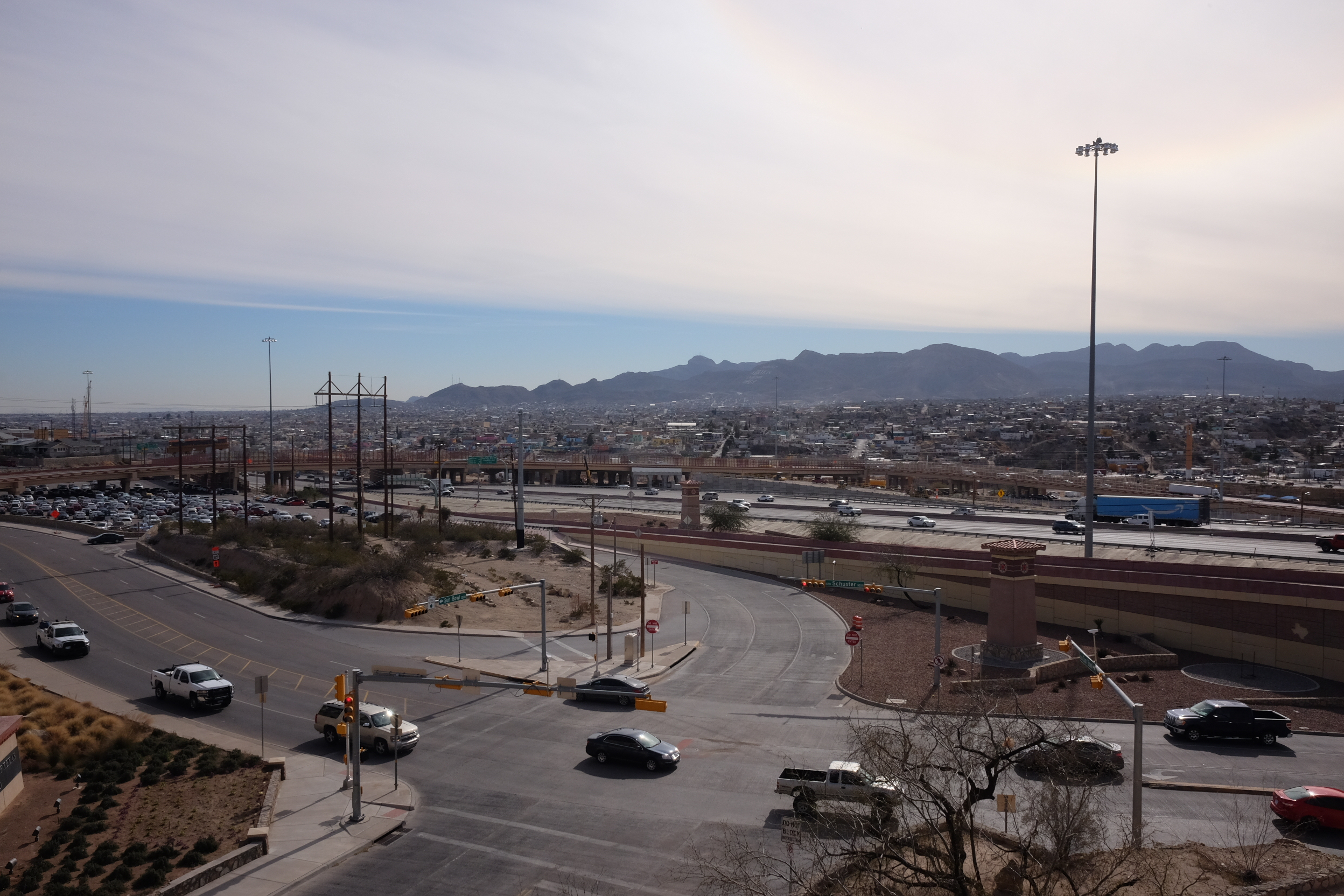 View over to Mexico from UTEP campus