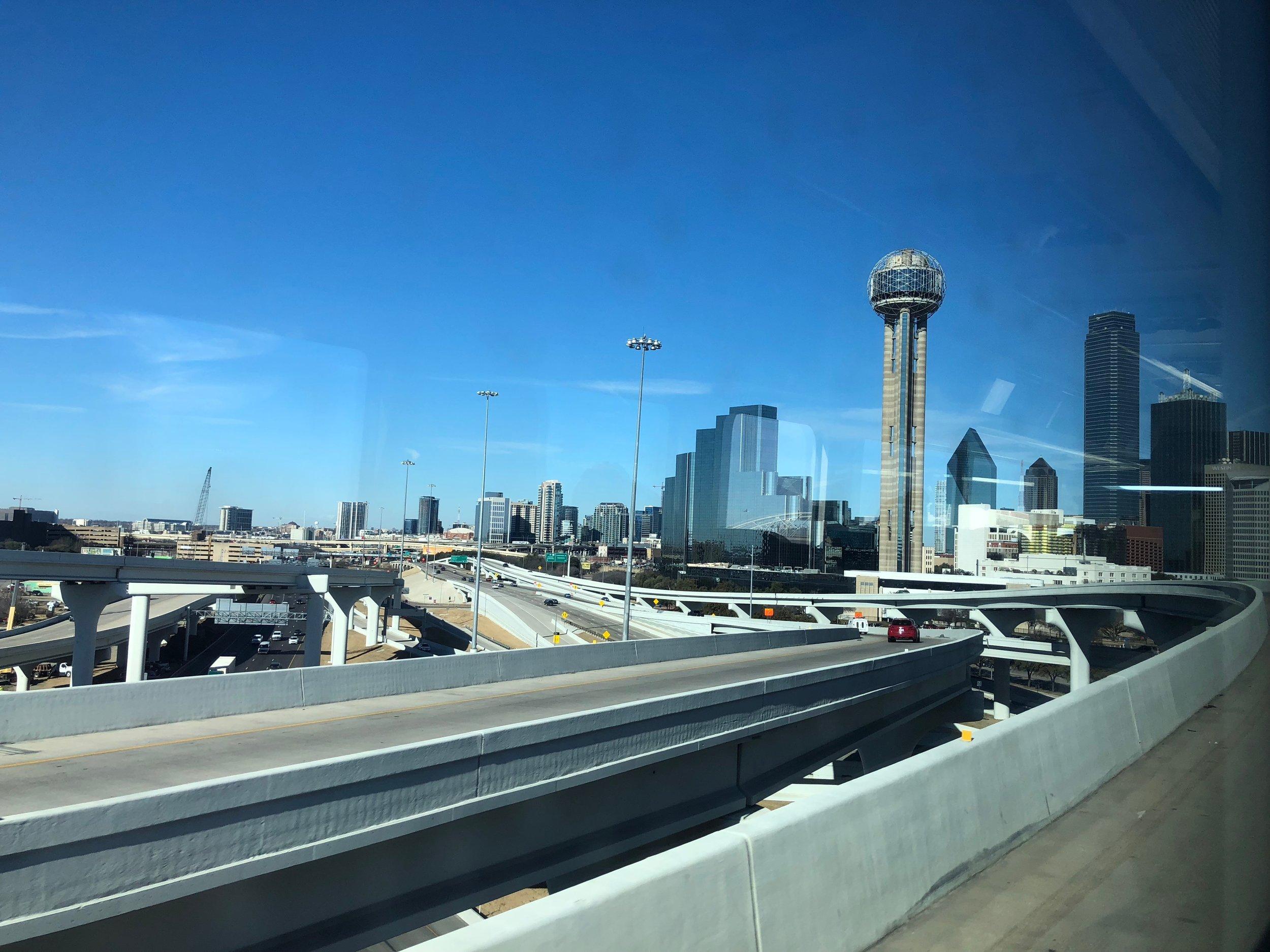 Coming into Dallas