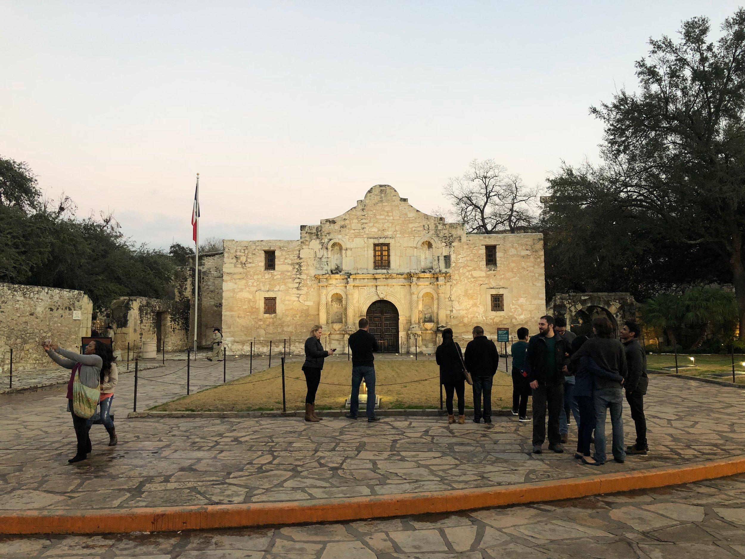 Festive Alamo atmosphere
