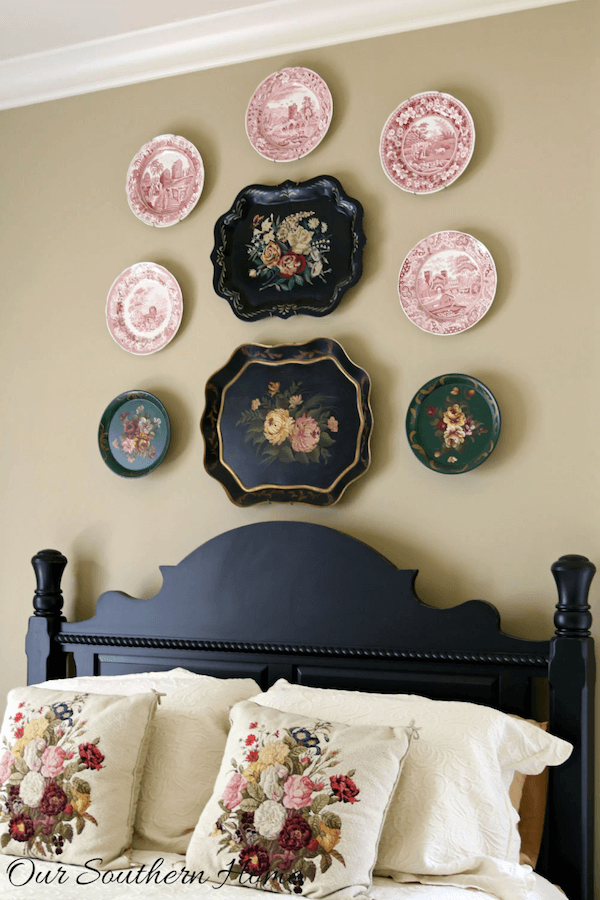 Anne White Interiors Blog | decorating with plates & platters