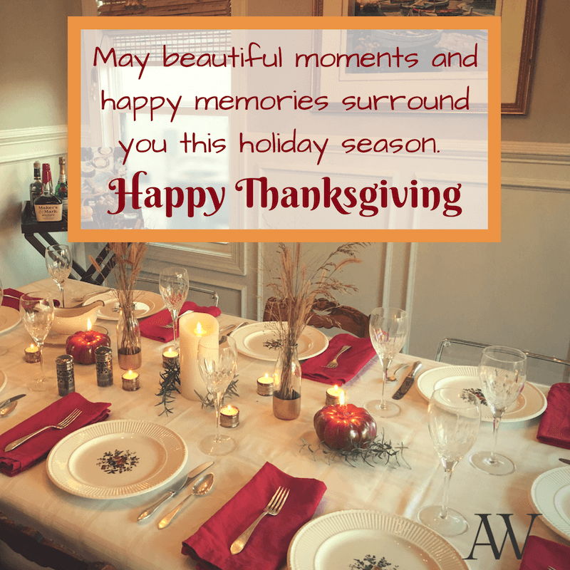 Anne White Interiors Blog | Happy Thanksgiving