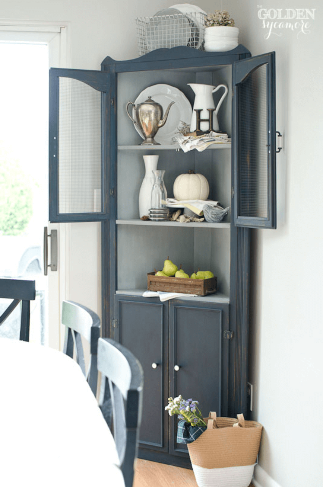 Anne White Interiors Blog | corner cabinets yea or nay