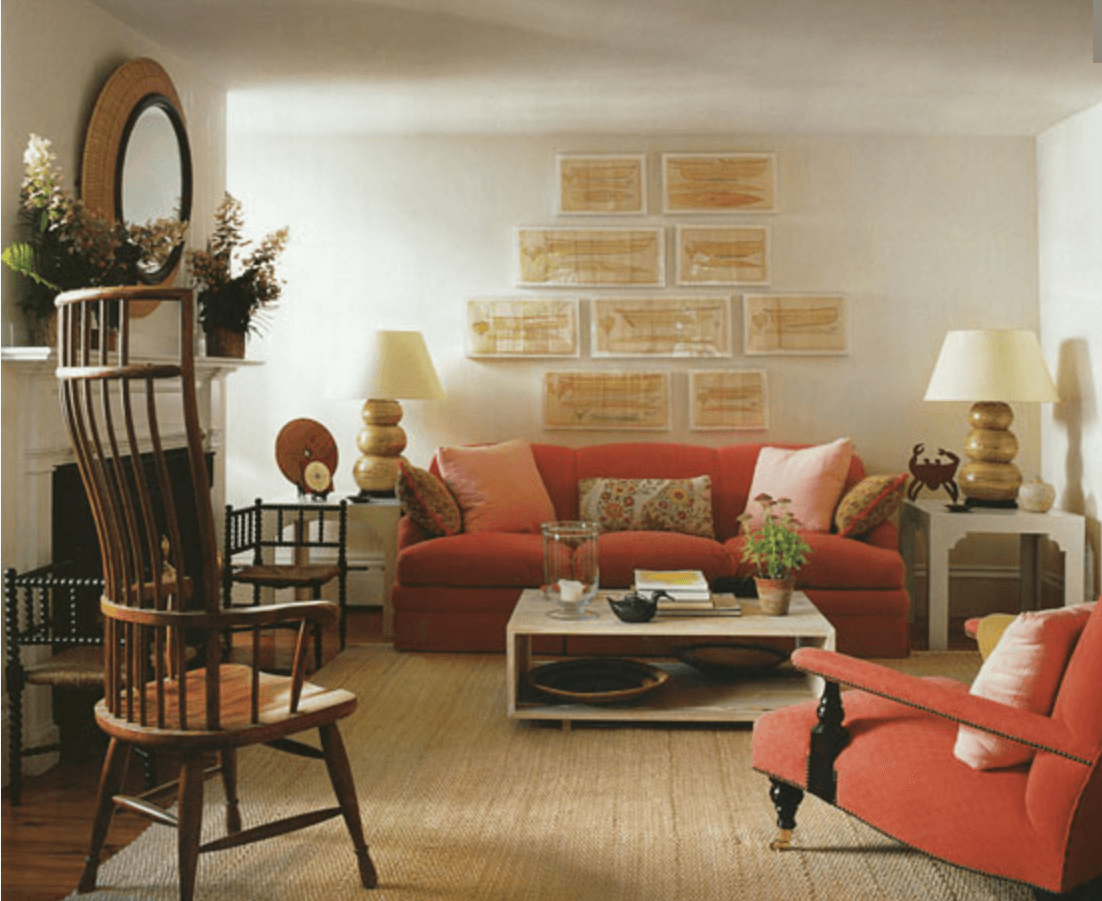 Anne White Interiors Blog   living coral Pantone color of the year 2019