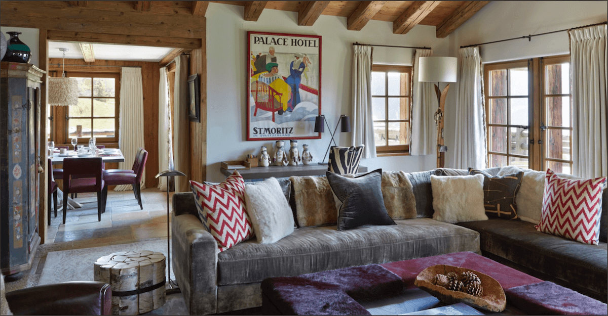 Anne White Interiors Blog | inspiration of the week Swiss chalet