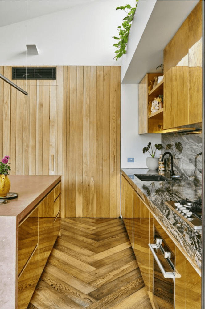 Anne White Interiors Blog   inspiration of the week: pink, green and brass kitchen