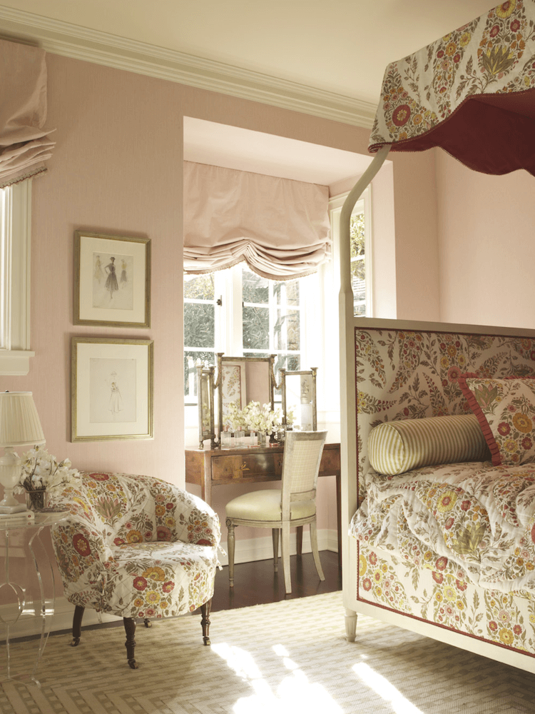 Anne White Interiors Blog | inspiration of the week pink and floral lovely