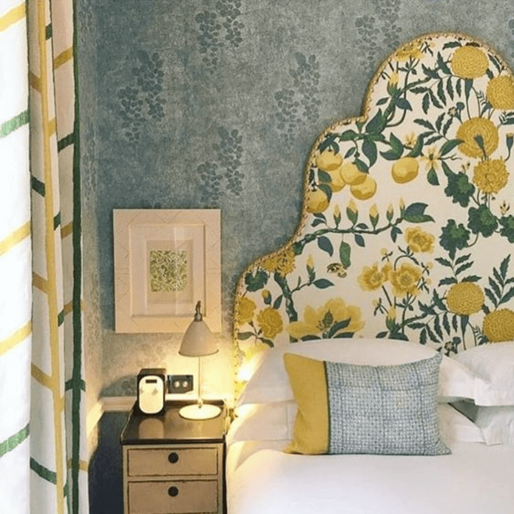 Anne White Interiors Blog | inspiration of the week: a small bedroom that's big on pattern