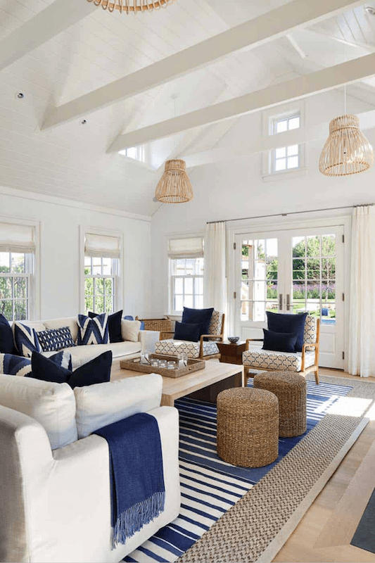 Anne White Interiors Blog | inspiration of the week: a blue and white coastal living room
