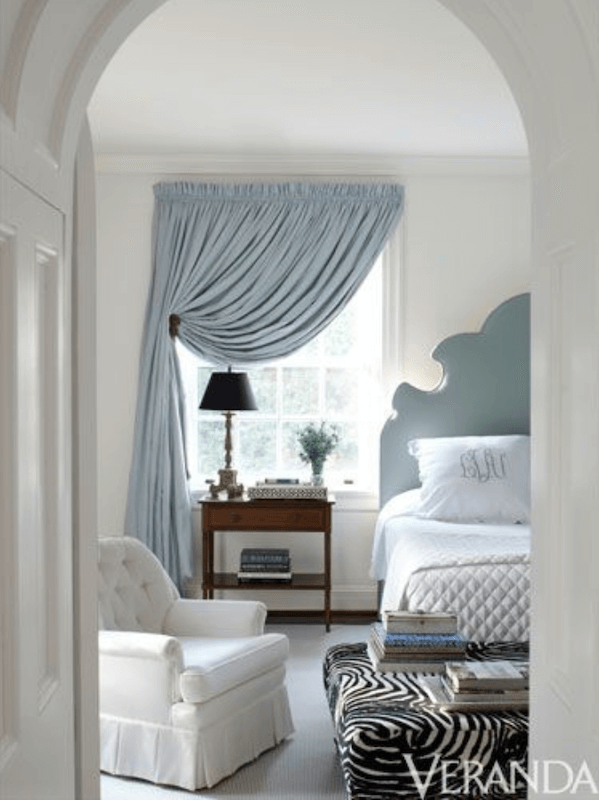 Anne White Interiors Blog | a soft and sumptuous window treatment