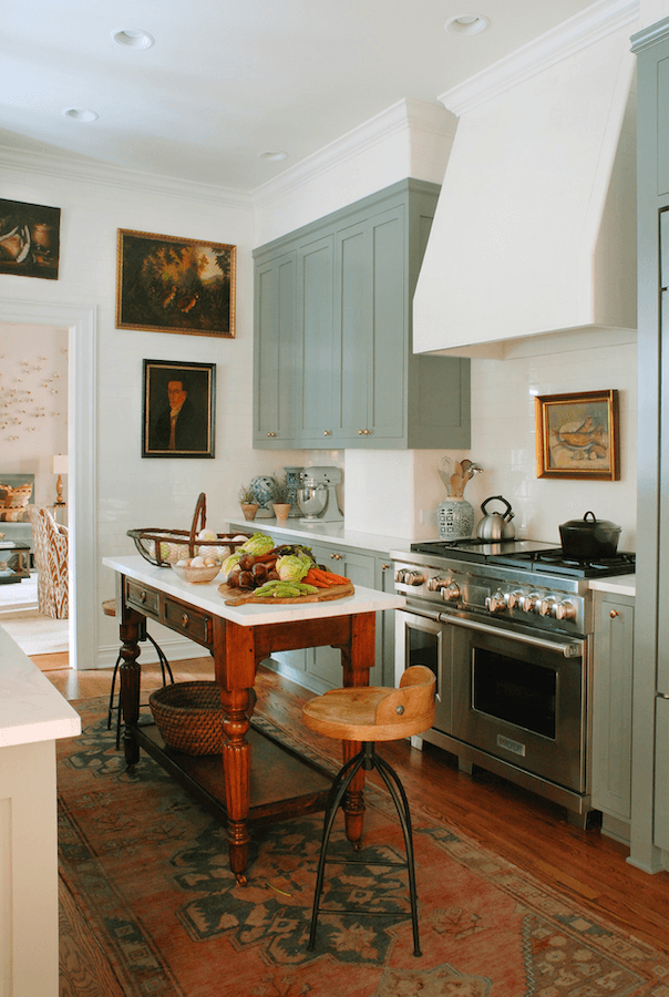 Anne White Interiors Blog | inspiration of the week: painted kitchen cabinets that aren't white