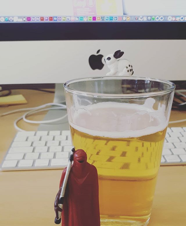 Just a regular day at the #office , Imperial guard AGAIN neglected its duties to protect my #beer . . . #artdirection #designer #creatives