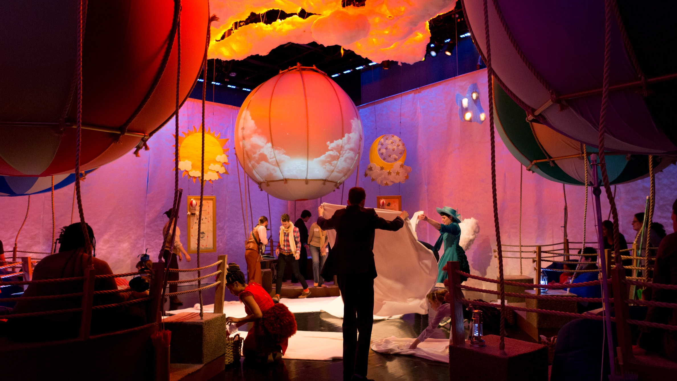 Up and Away - (Audiences on the Autism Spectrum)The Fogg Family Balloon Society is taking their 1000th balloon ride, and you are invited! Join them on an immersive multi-sensory journey through the sky in your very own hot air balloon.