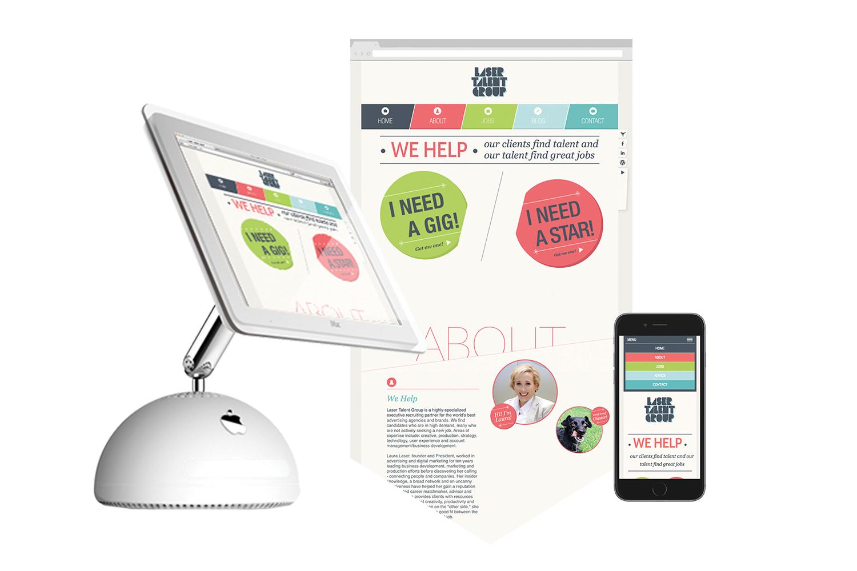 Copy of Laser Talent Group, Digital, Web Design