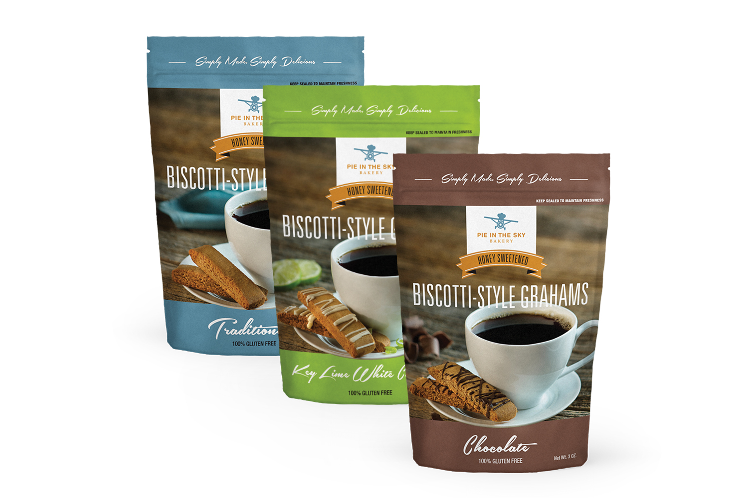 Copy of Pie in the Sky, Packaging, Biscotti-Style Grahms