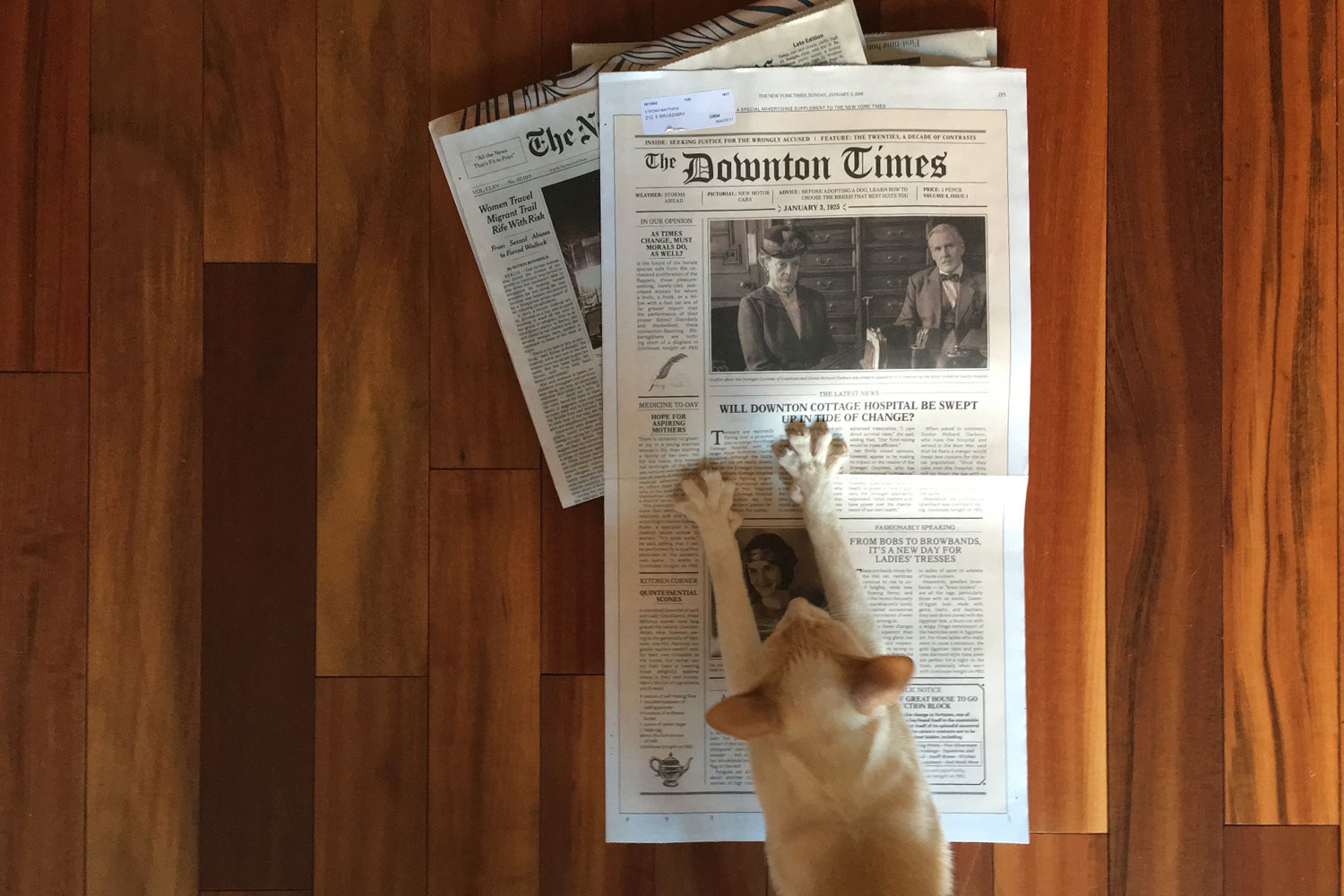 Copy of The New York Times, Print, Newspaper, The Downton Times