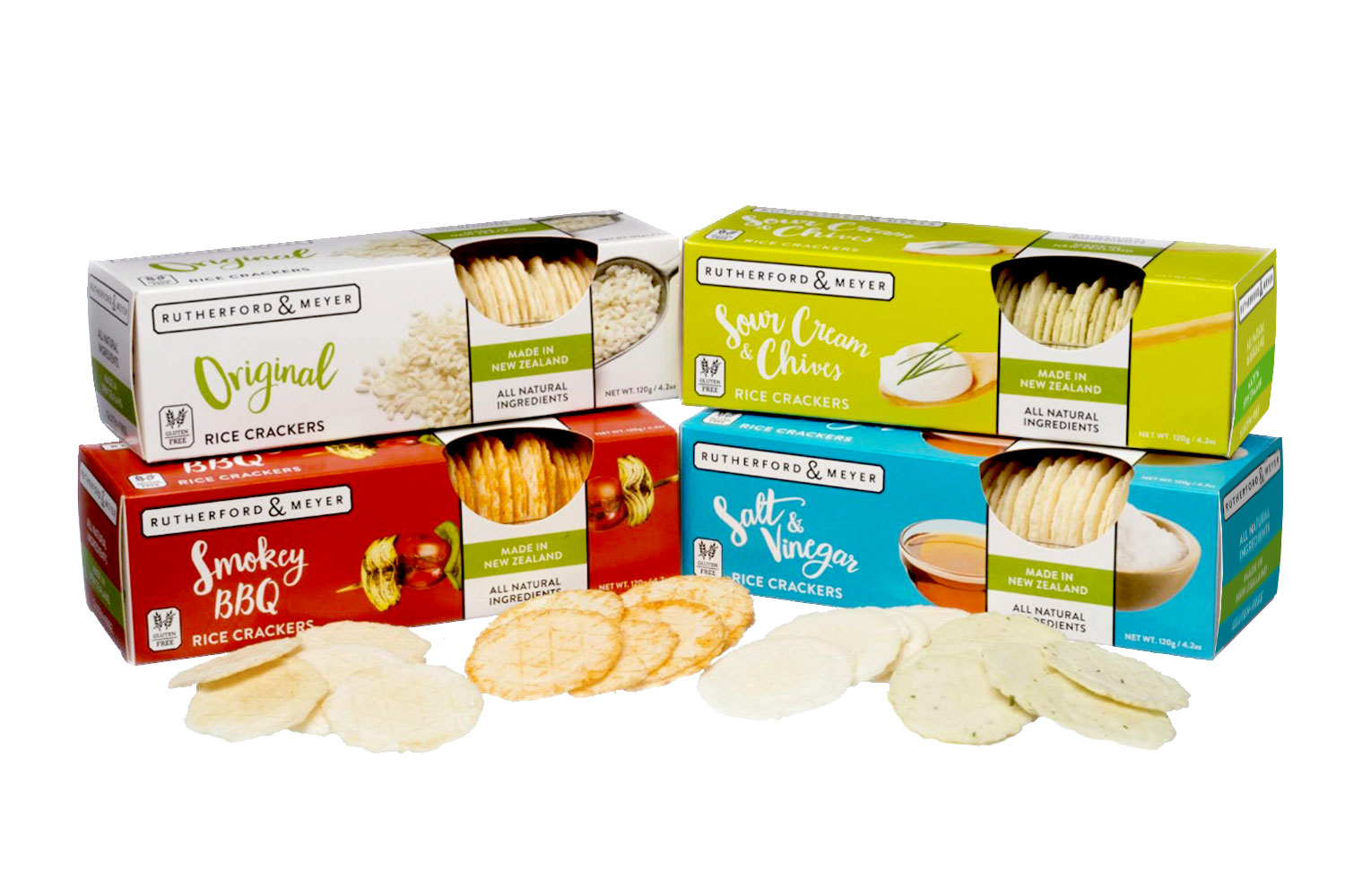 Copy of Rutherford & Meyer, Packaging, Rice Crackers
