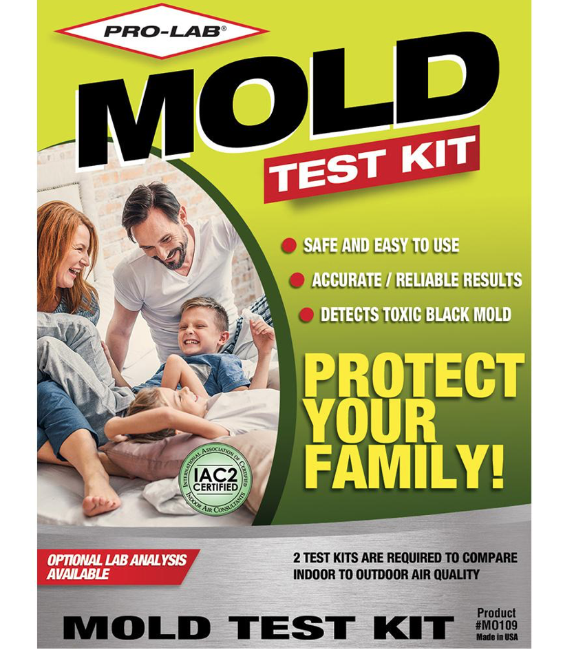 Home Depot mold test kit we used for an initial air sample test