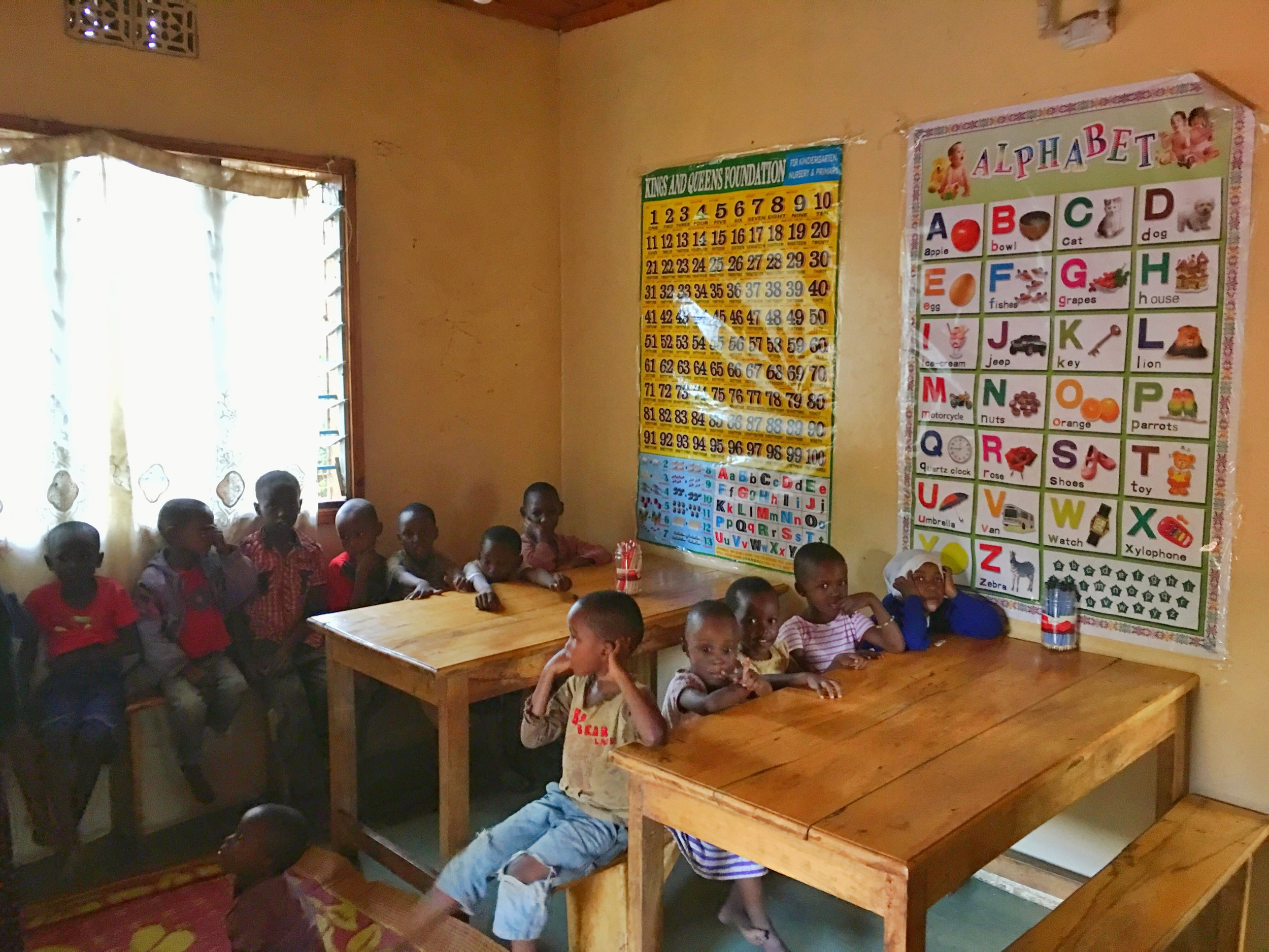 Our primary english class which is offered to all children who come to the Simbas Community Center.