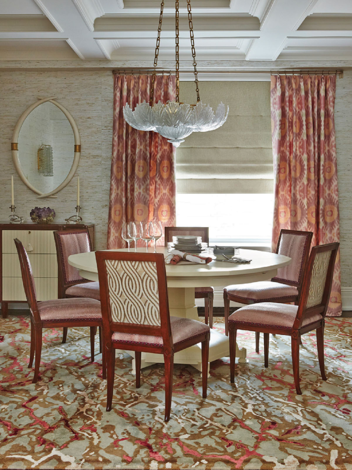 PRIVATE RESIDENCE-DINING ROOM     KERALA  HANDKNOTTED CARPET NEW YORK, NY