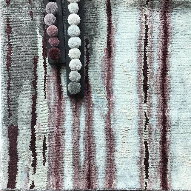 When your strikeoff sample arrives and the colors are 99% spot on..meaning only one color is off, there is still room to jump for joy because the sample is still really very beautiful....ahhh. . . . #customrugs #bespokerugs #rug #ruglover #handmade #design #homedecor #interiordesign #homedesign #accessories #textileart #textiledesign  #rugaddict