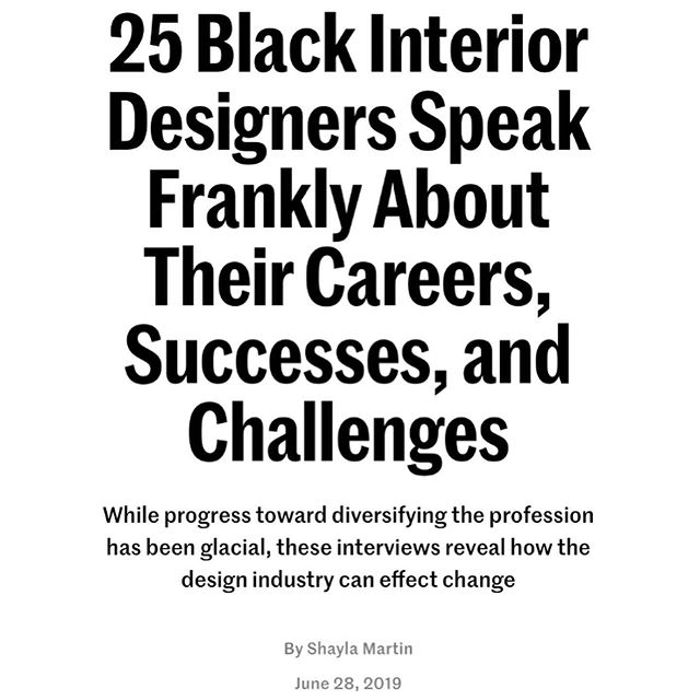 Y'all remember the post from last September calling out the design industry's lack of representation of Black designers? While our struggle for equality and recognition is never done, but it's important we acknowledge our victories along the way!  We want to thank @shayla.martin for sharing our voices and experiences with the world in @archdigestpro Please repost and tag your networks. We're just getting started! Read the full story Link in Bio . . #shareblackhtories #buildwithbadg  #badguild #badguild #archdigest #archdigestpro #interiordesign #interiordesigner #inclusion #blackinteriordesigners #besttalent #werockdesign #wedesigntoo #representationmatters #blacktalent #hireadesigner #interiordesign