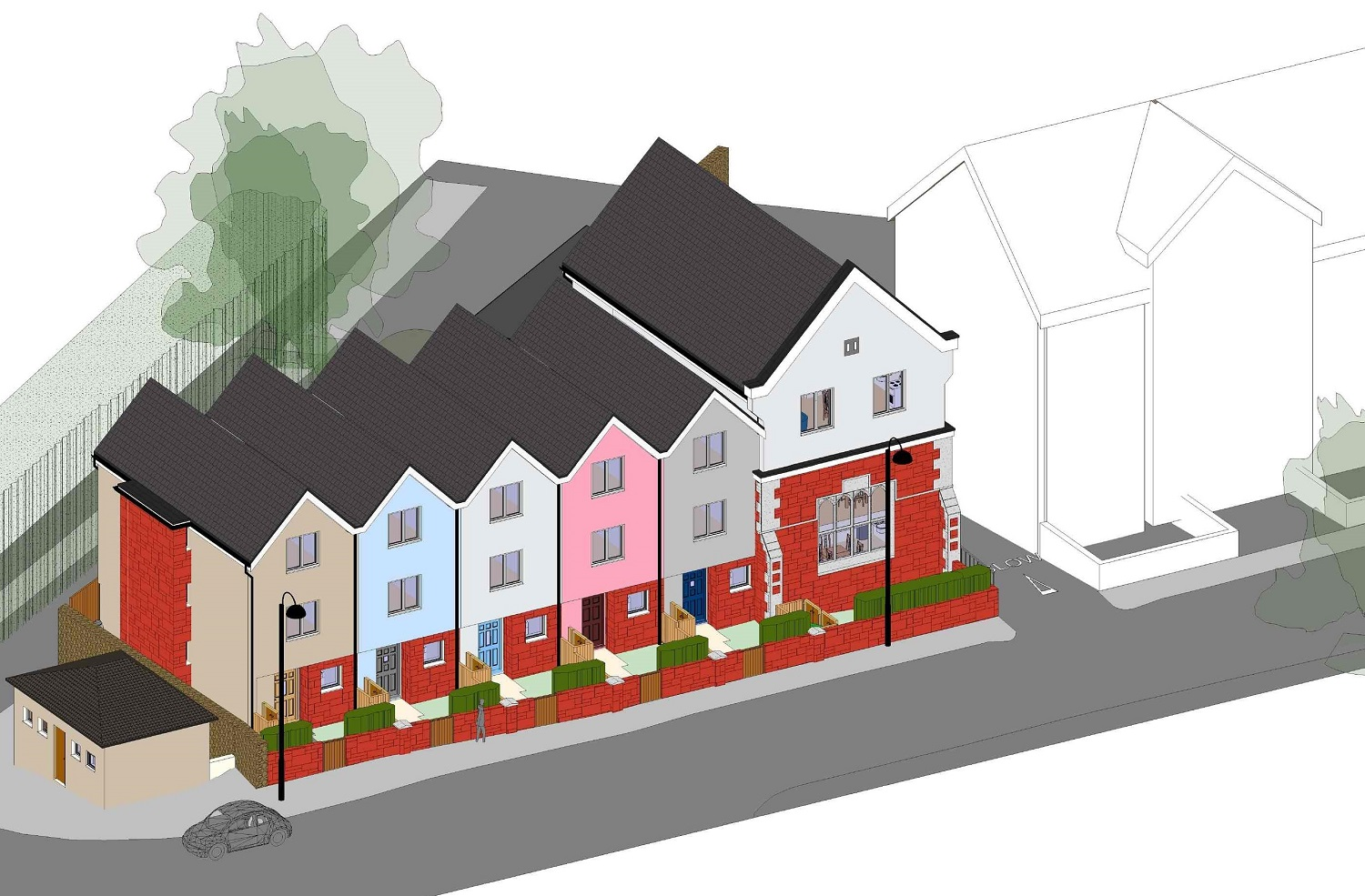5 NEW HOUSES & 3 FLATS IN CONSERVATION AREA - Shirehampton, Station Road