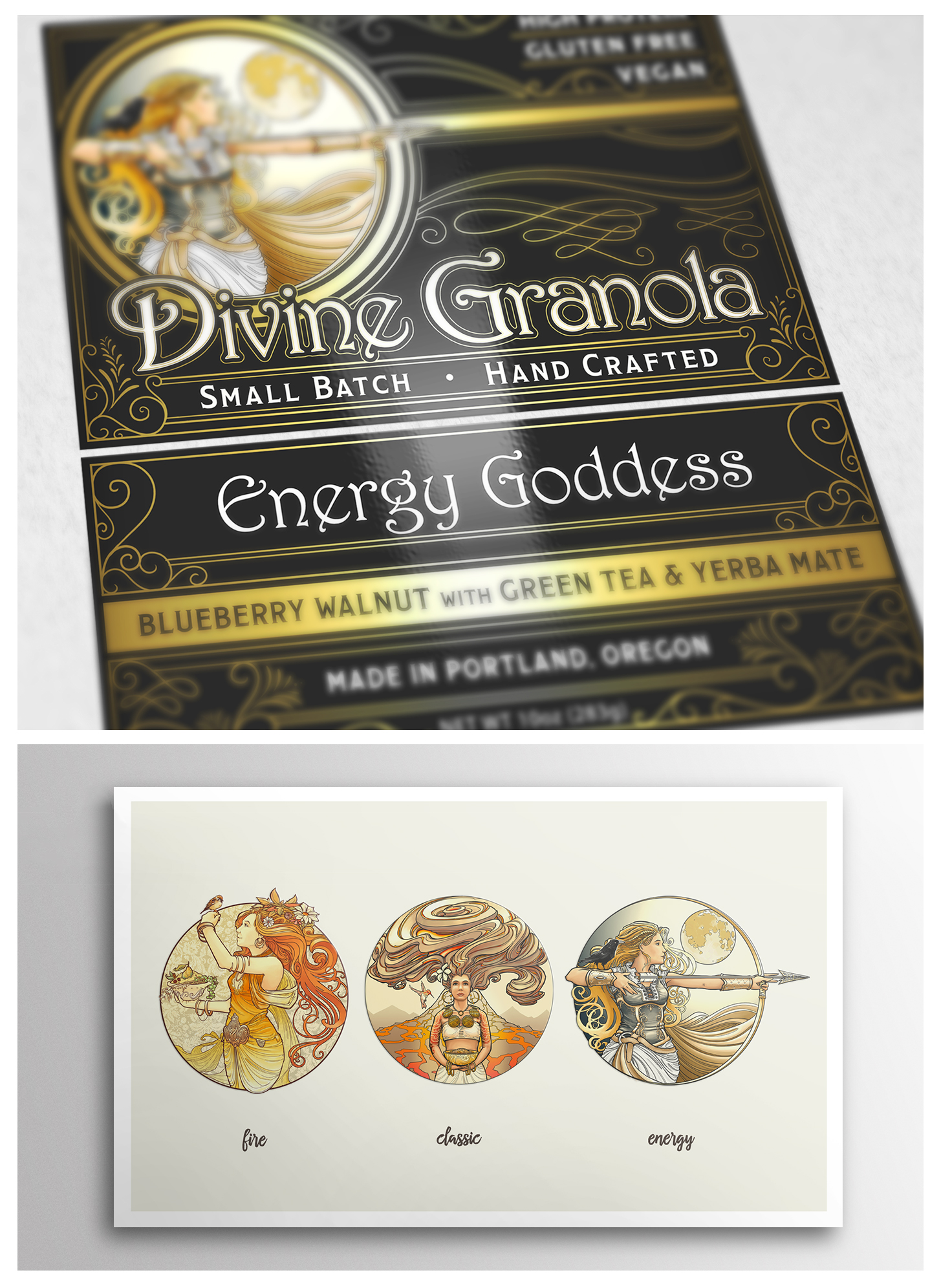 Divine Granola Logo Design