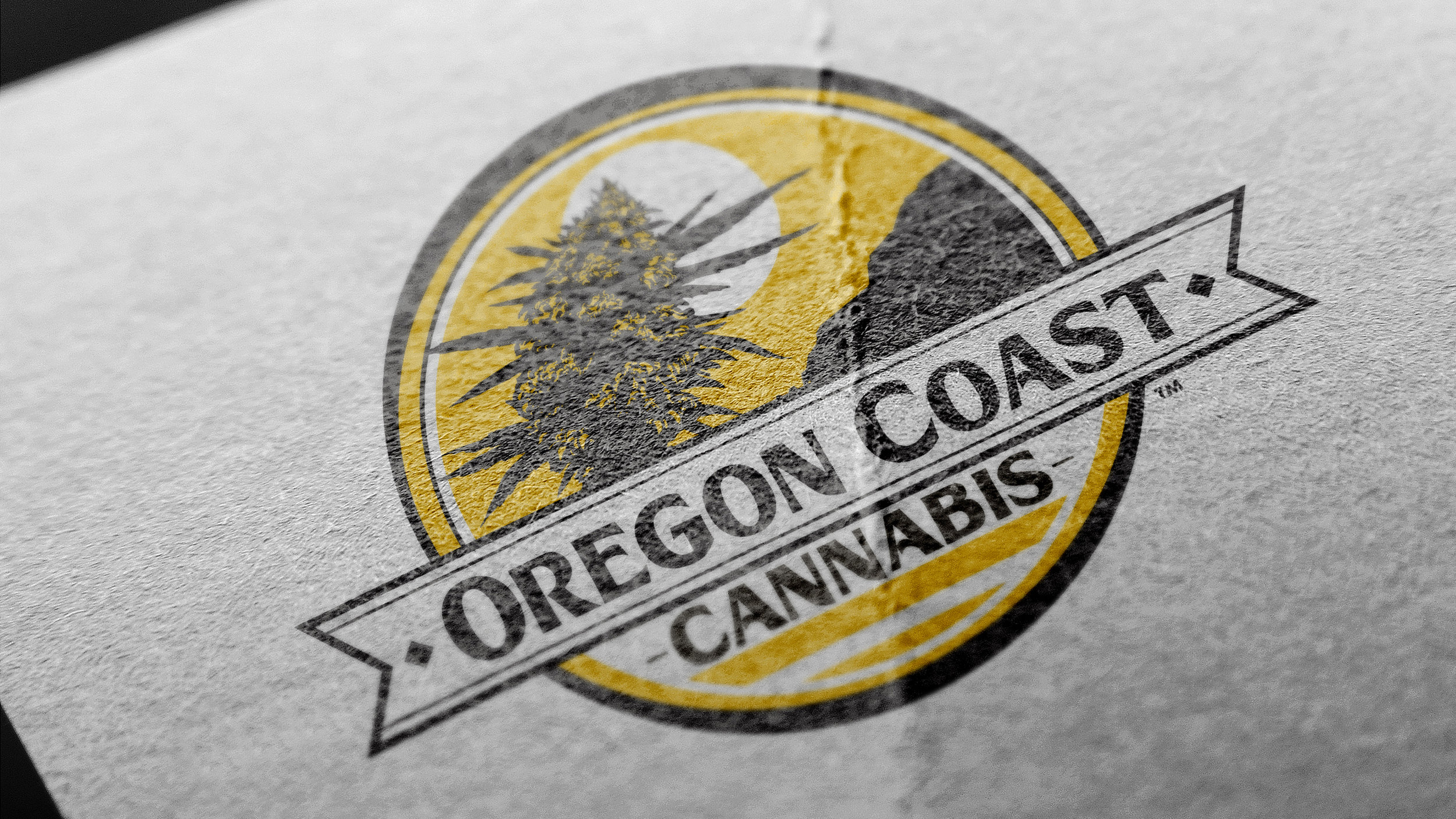 Oregon Coast Cannabis Logo Design
