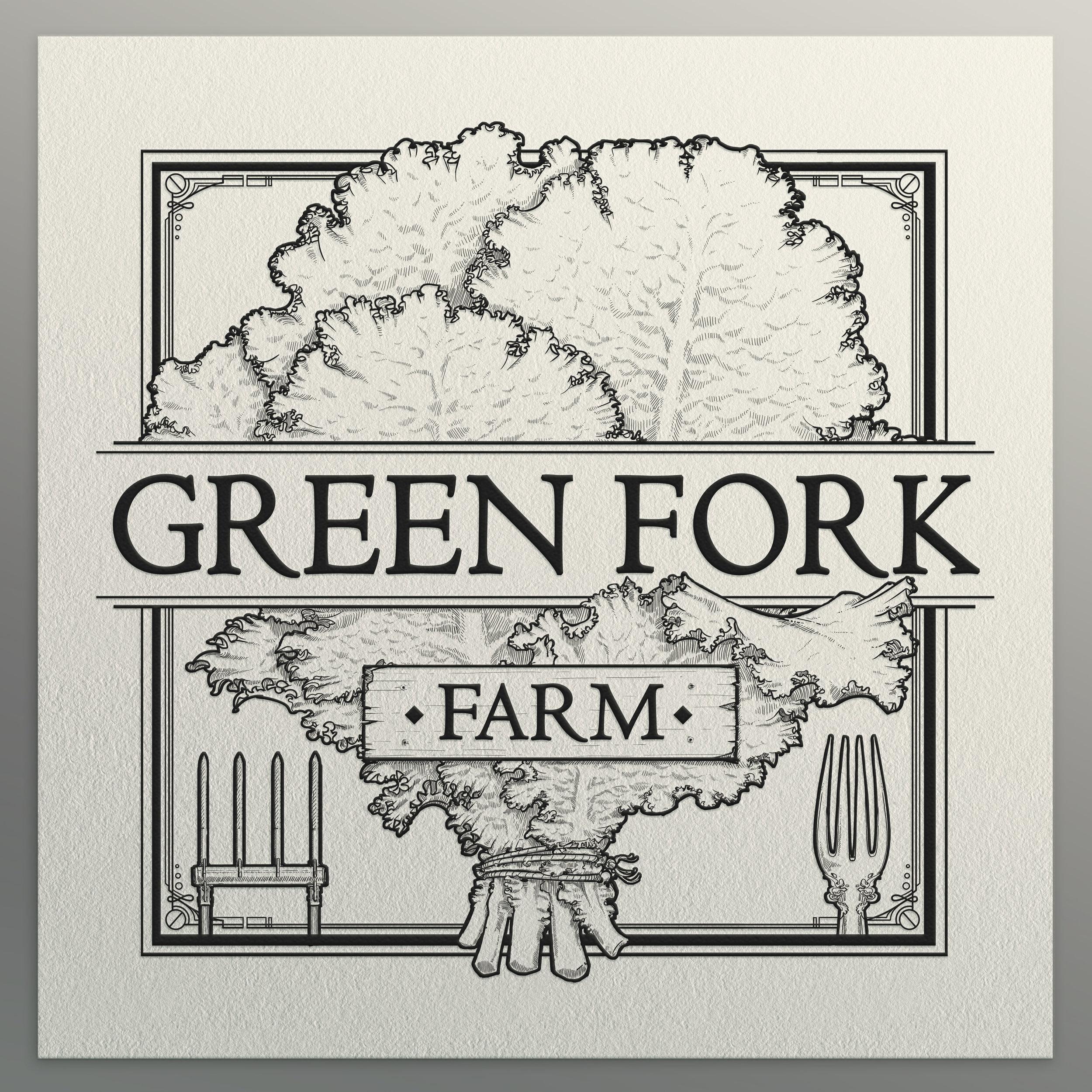 Green Fork Farm Logo Design