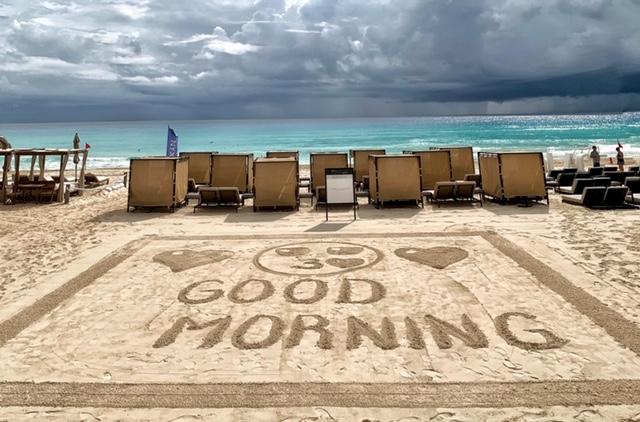 Beach Palace Sand Art
