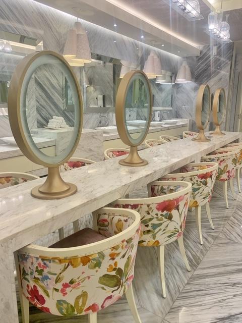 Bathroom vanities at The Grand at Moon Palace