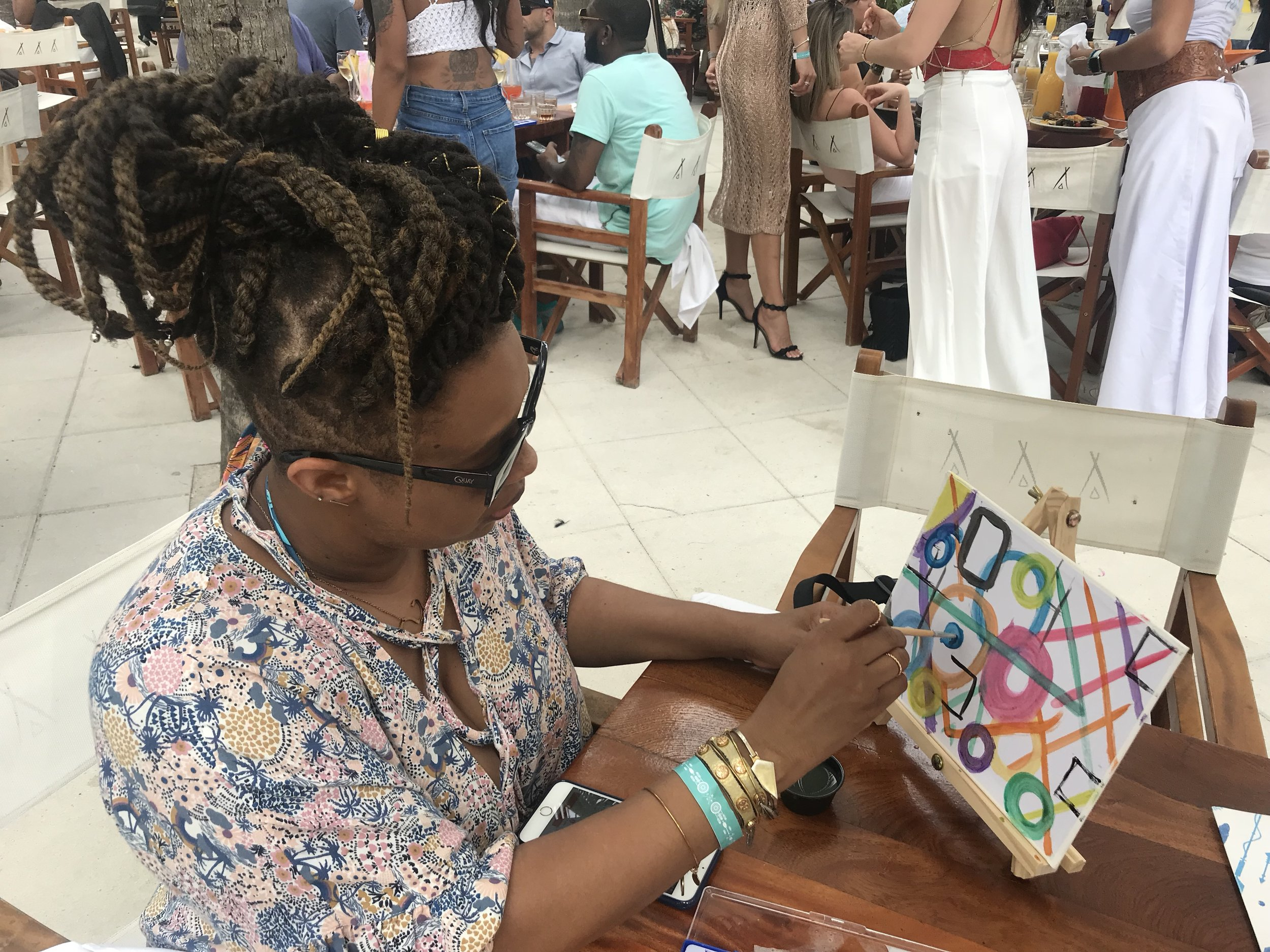 Our visit was doing Art Basel. Nikki Beach incorpoates Art and creativity making it an Art themed Brunch.