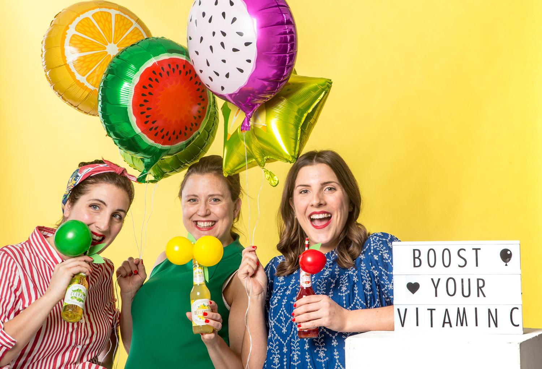 Fruktparty med våra färgstarka och smakrika fruktballonger.