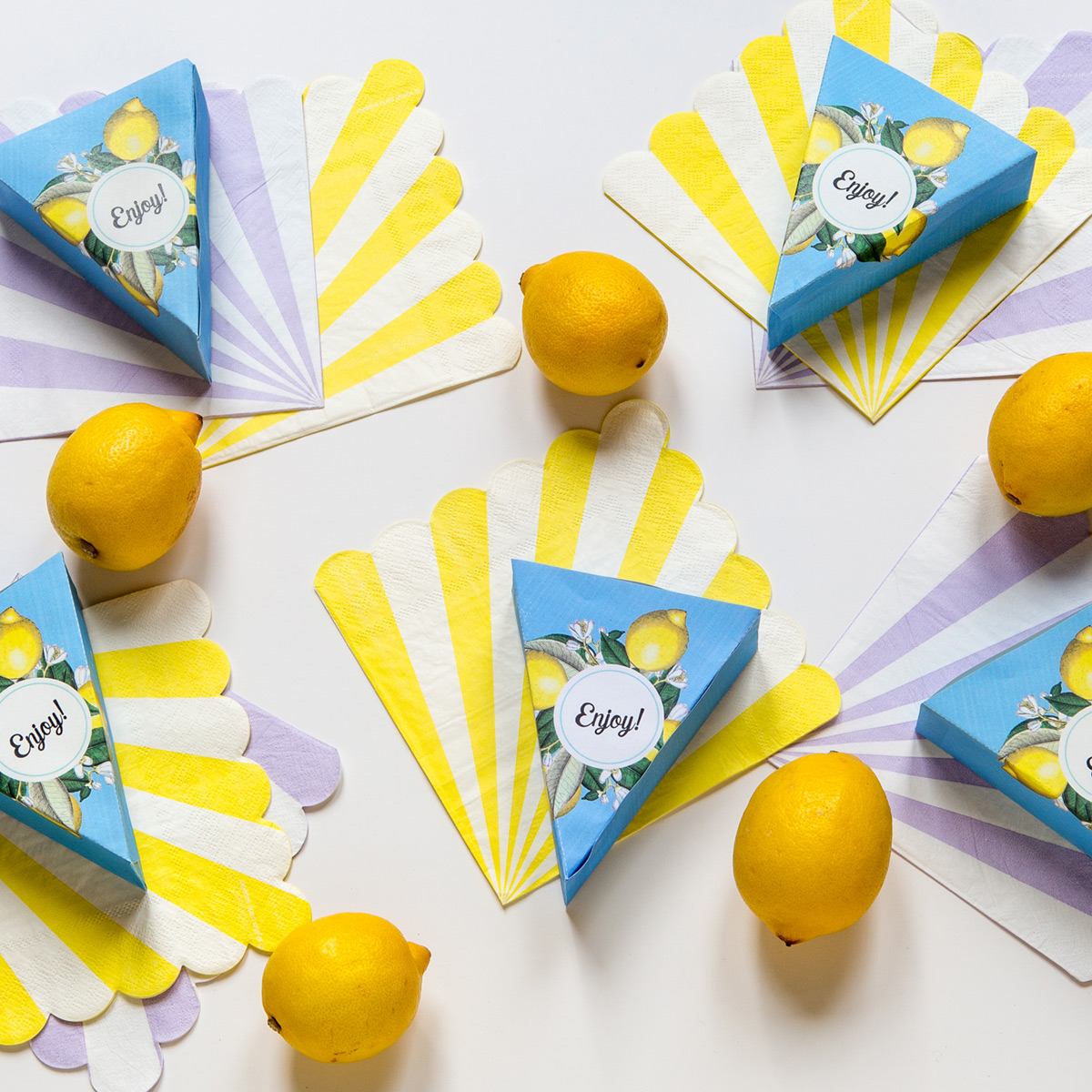 Citronpajsförpackningar
