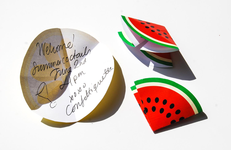 Fruktinbjudan vattenmelon