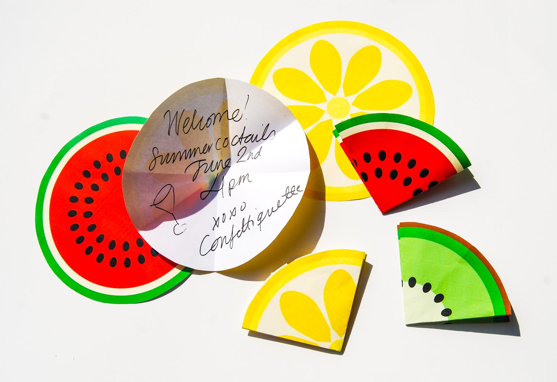 Fruktinbjudan citron