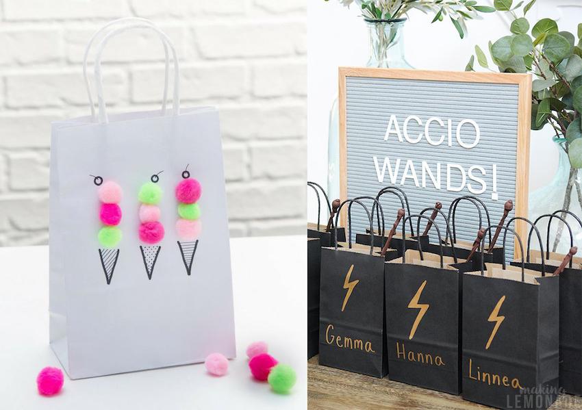 DIY presentpåse med glass motiv och Harry Potter giveaway