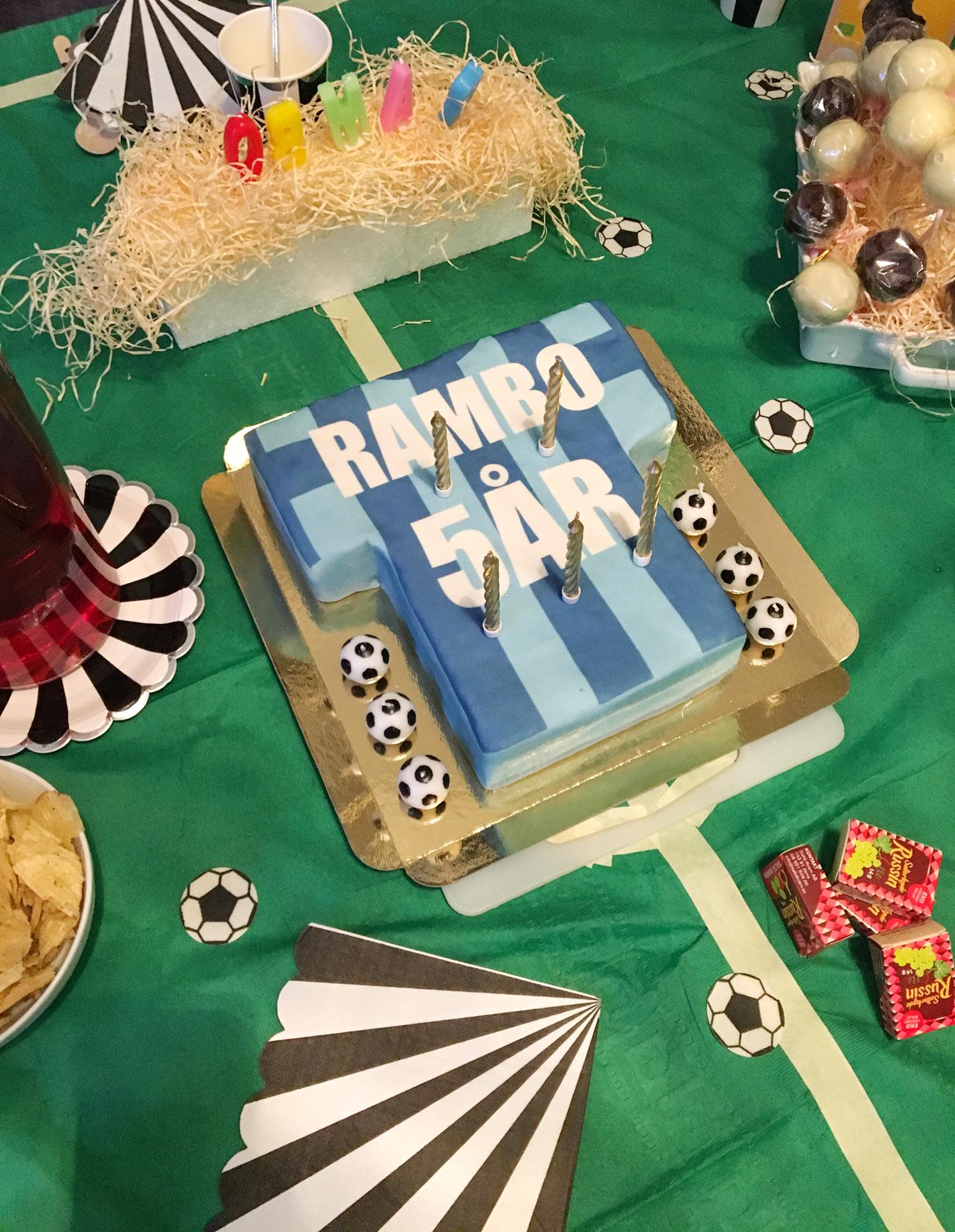 Bästa tårtan till ett DIF-fan var denna fotbollströje-tårta!
