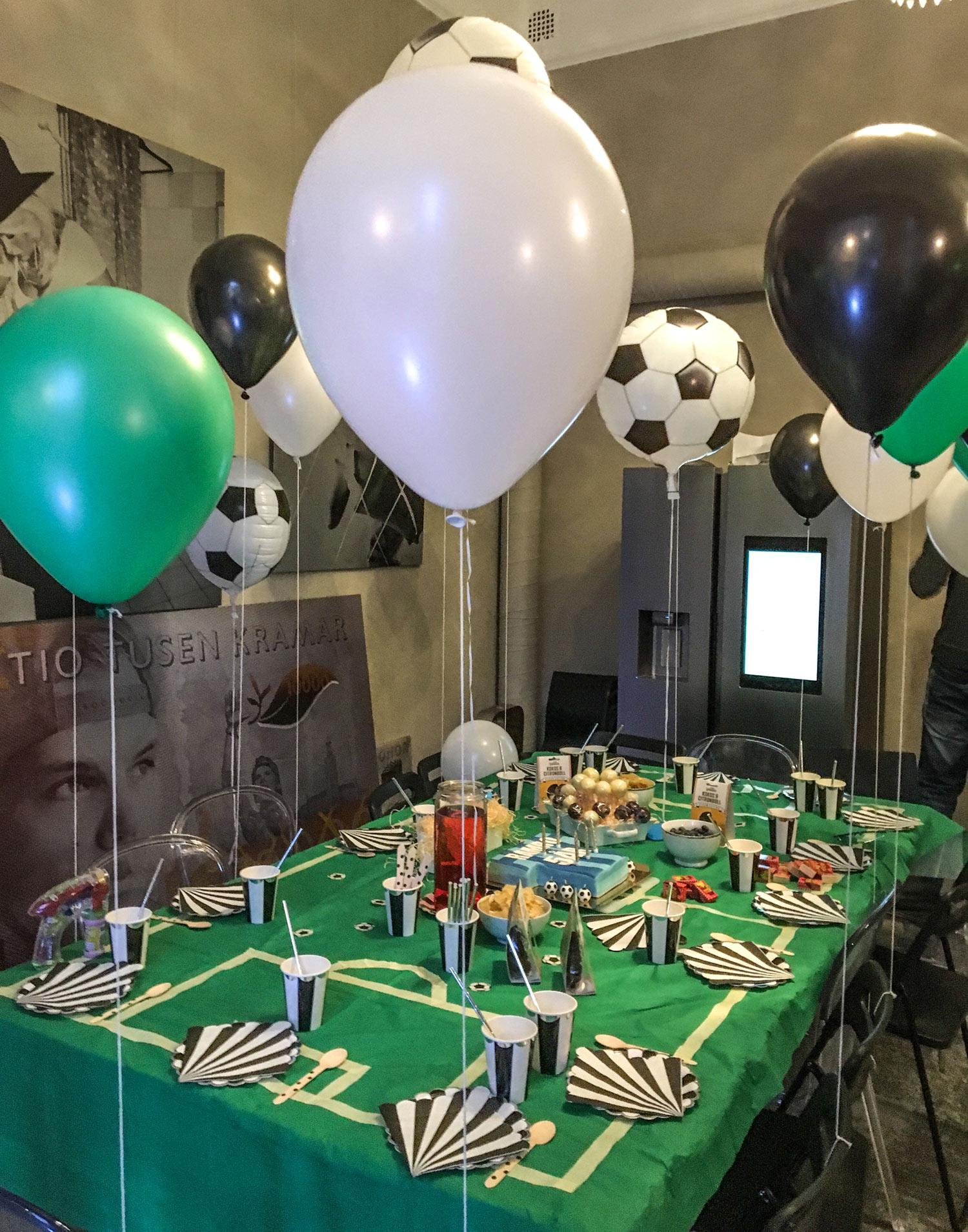 Rambos 5 års kalas med fotbollstema