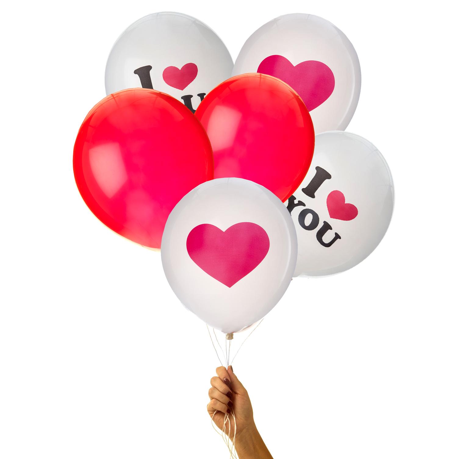 Kärleksballonger till Alla Hjärtans Dag