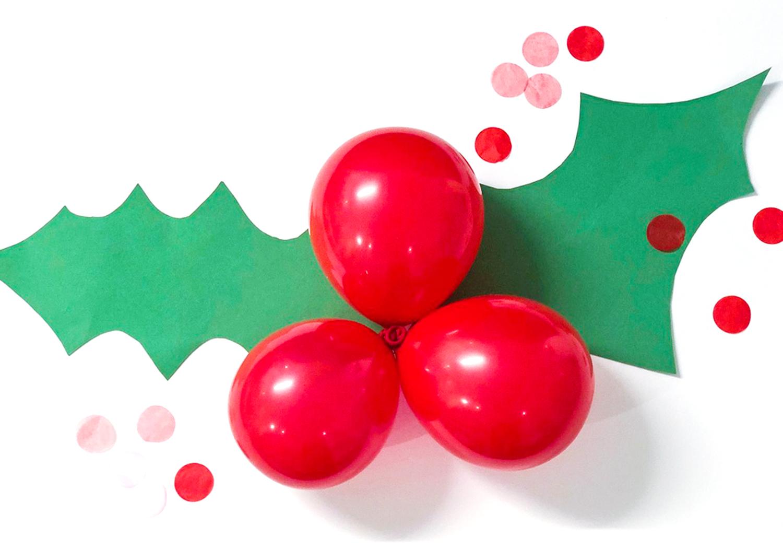 julbär och blad