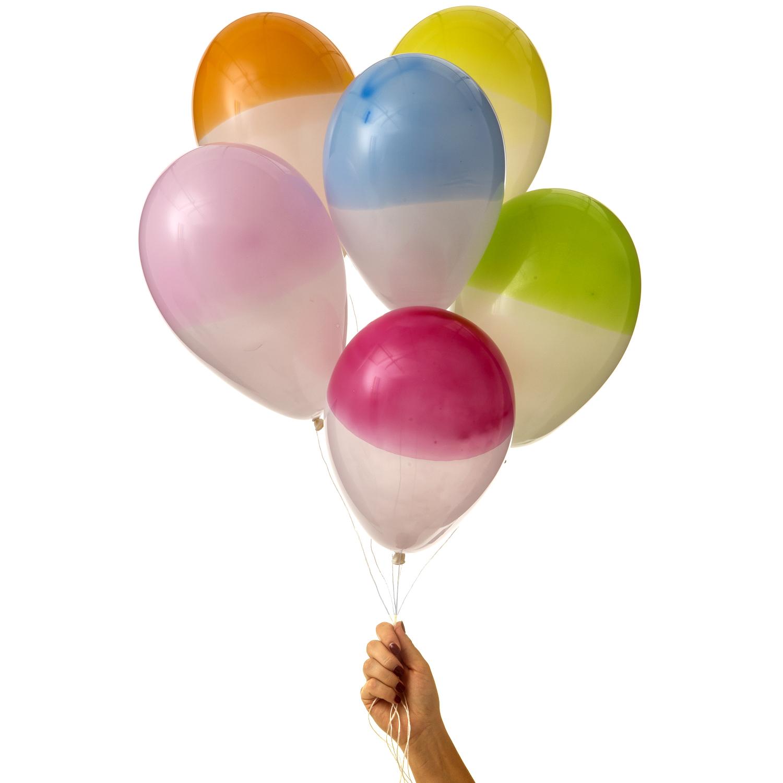 ekologiska supersnygga halvfärgade ballonger av naturgummi i stilrena färger av märket Marusa Balloons i storlek M