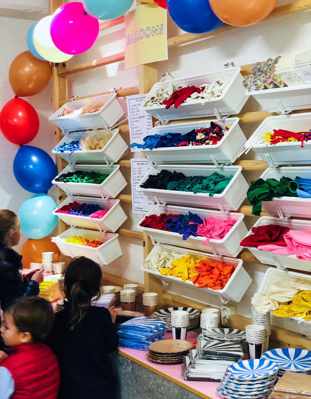 Confettiquette showroom