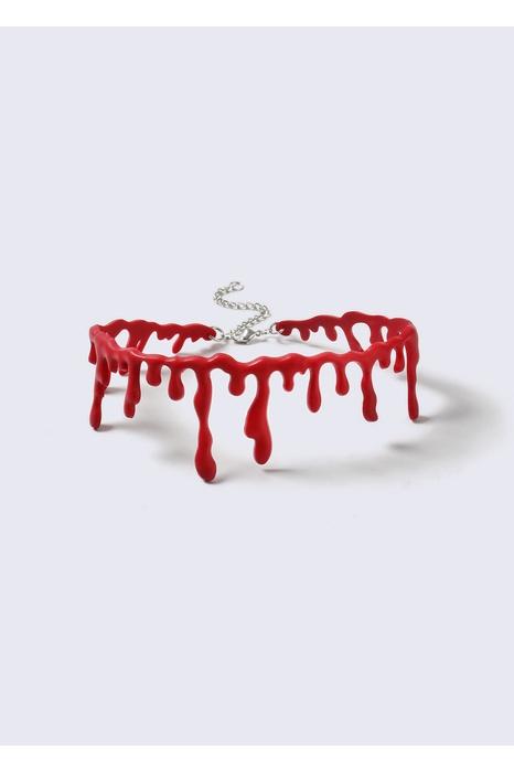 halloweenhalsband, rinnande blod Gina Tricot