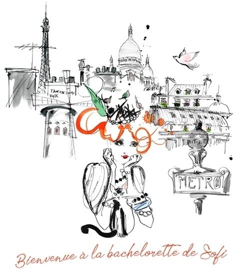 Sofi möhippa med franskt tema