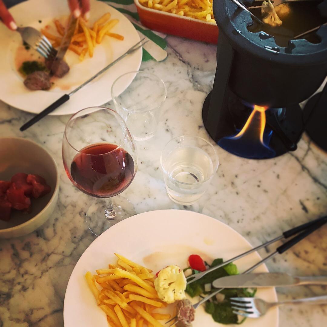 fondue middag