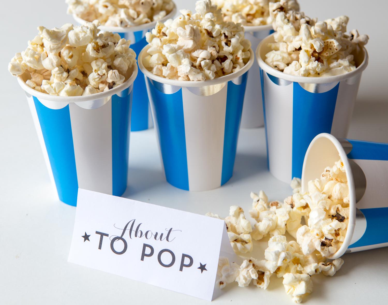 popcorn bästa snackset till babyshower
