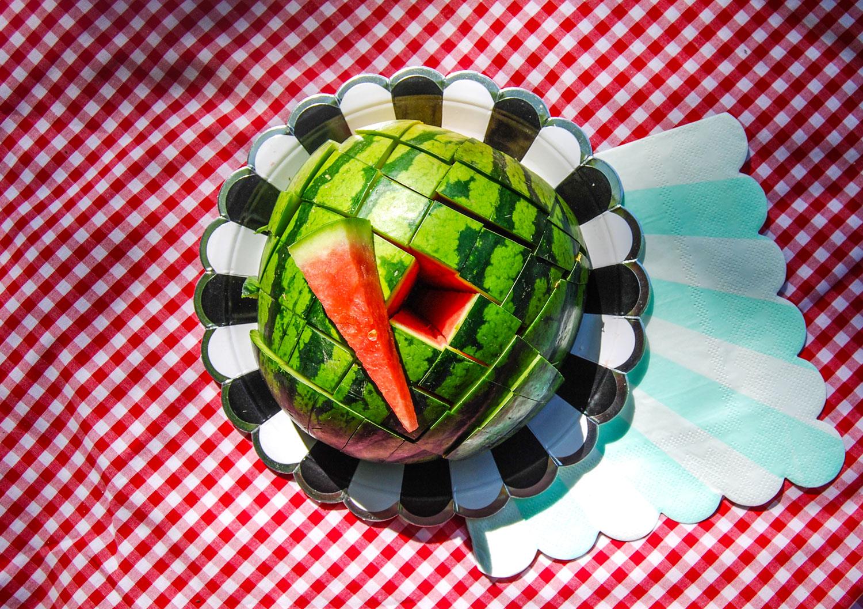 hur man skär en vattenmelon på bästa sätt