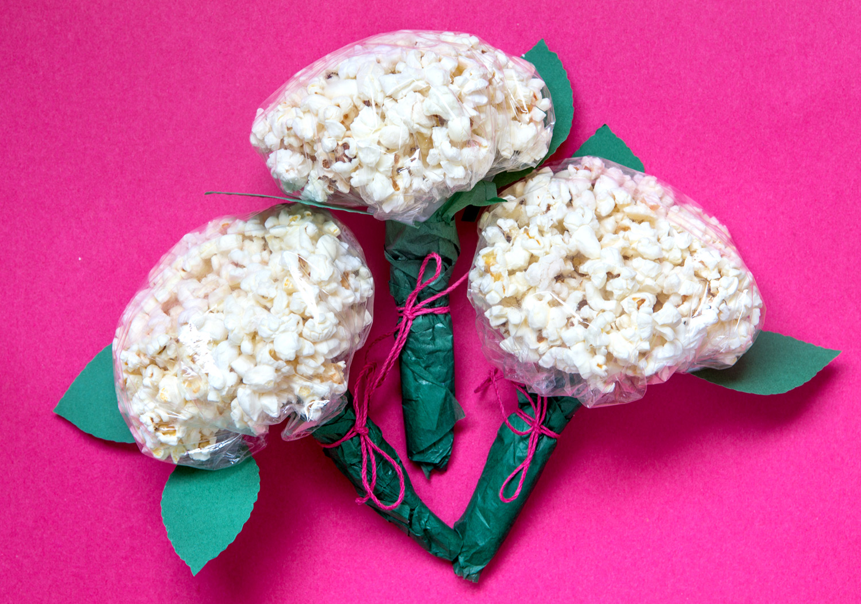 hortensior av popcorn vackraste snackset